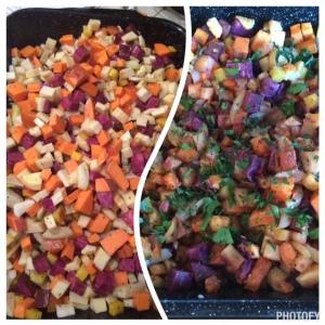 roasted root veggies