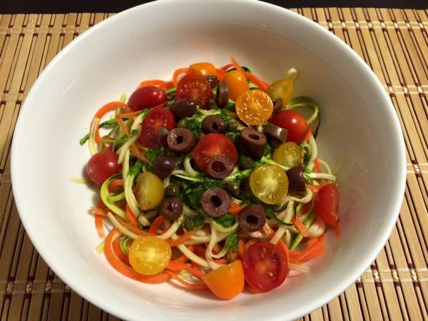 Veggie Noodles with Parsley Pesto