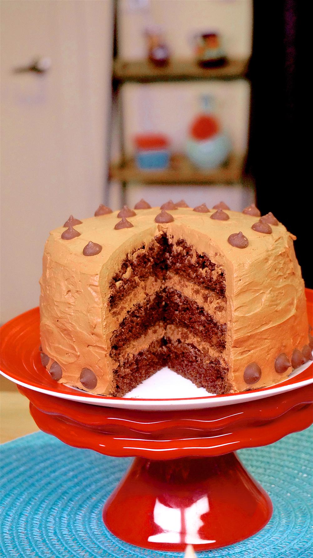 Jazzy Vegetarian Chocolate Cake