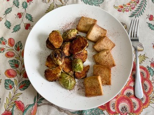 Brussel Sprouts and Maple Tofu